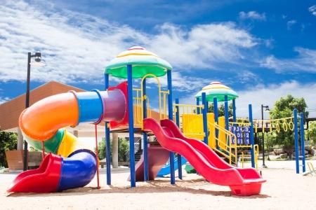 Playground With Sky Background