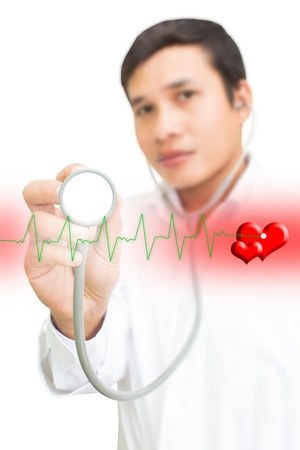 Doctor With Stethoscope And Heart Symbol Stock Photo - 15913915