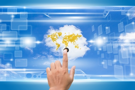 Cloud Computing Concept Reselection photo