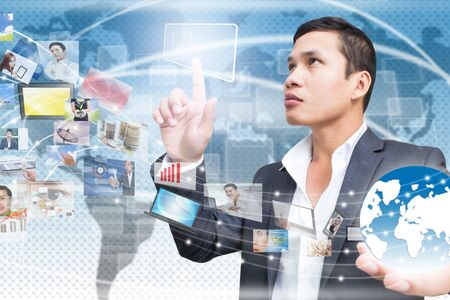 Man With Technology Screen Stock Photo - 16793480
