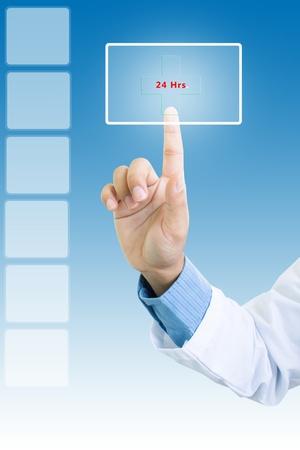 24: 24 Hrs  Service,Medical Background Concept