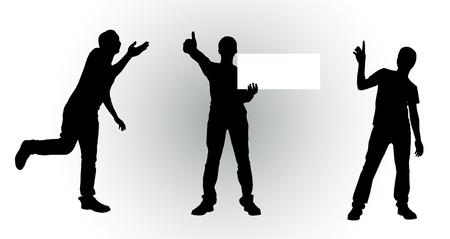 'body language': Silouette Person,Body Language
