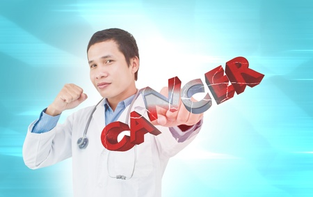 fighting cancer: Fighting Cancer Stock Photo