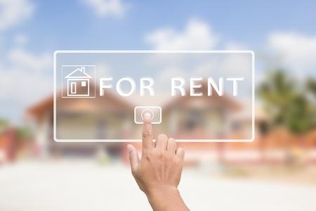 House For Rent Zdjęcie Seryjne