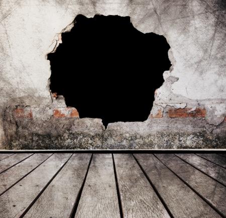 pared rota: Escena Horror Foto de archivo
