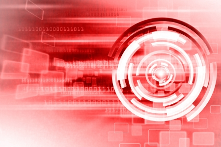 Red Hot Technology Background Design photo