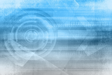 Blue Soft Grunge Background Design With Technology Concept photo
