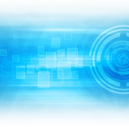 Blue Abstract  Technology Background Design