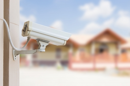 Protect Your Property With CCTV Camera Reklamní fotografie - 19266773