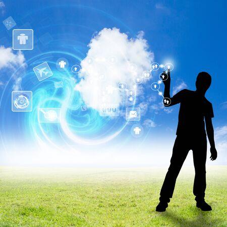 cloud computing concept: Cloud Computing Concept Stock Photo