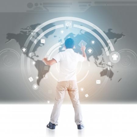 innovativ: Man Cyberspace In Teil 2 Lizenzfreie Bilder