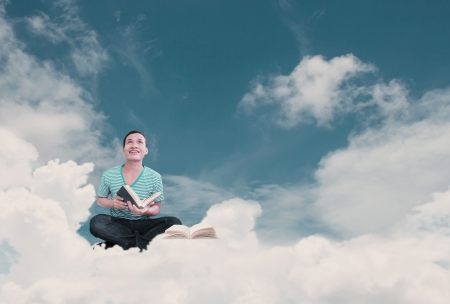 Reading Book Concept Part 4 , Reading In The Sky photo