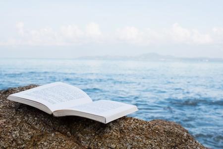 Book On The Beach Foto de archivo