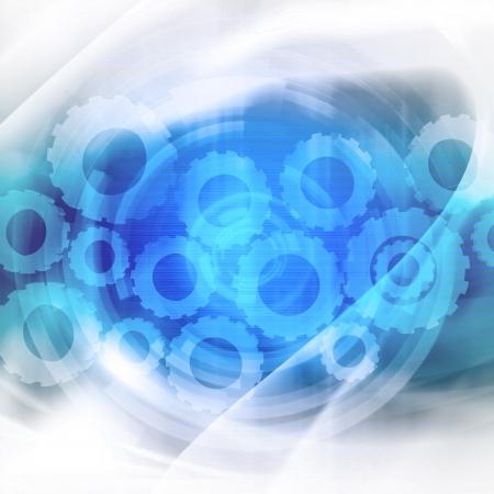 Gears Futuristic Background