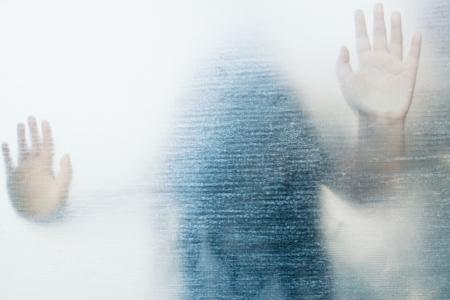 Frozen No 2,Ghost Girl On Glass Banco de Imagens - 19798712