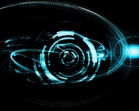 Blue Dark Futuristic Banner Stock Photo, Picture And Royalty Free ...
