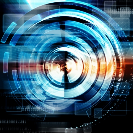 Technology Abstract Background,Electric Eyes