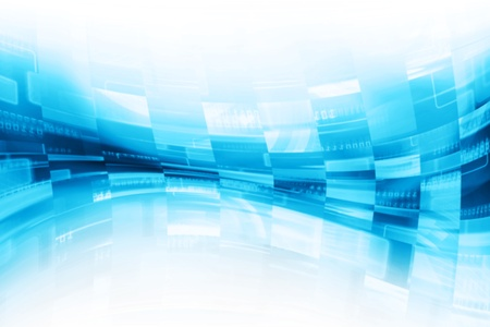 high tech world: Virtual Screen Background,Pixels Flow Stock Photo