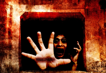 horror background: Dark Tunnel Part 2, Welcome To My Halloween,Dramatic Look