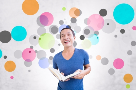 Student With Colorful Background photo