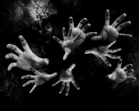 demon: Z części Ruins 2, nigdy nie będziesz sam, tło dla koncepcji Halloween Horror