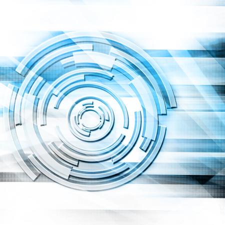 Blue Retro Futuristic Background Stock Photo