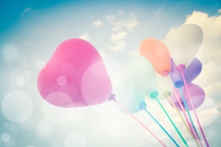 Balloons Background For Valentines Or Seasonal Holidays