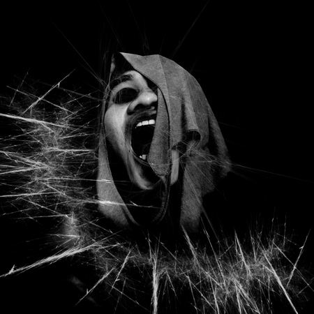 Black And White Horror Background Stock Photo - 26494295