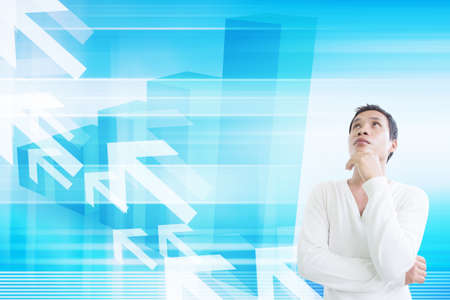 Man With Stock Exchange Concept  photo