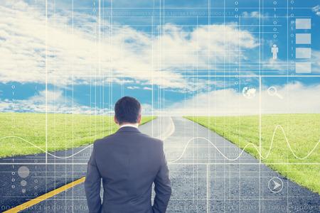 vision futuro: Negocios mira hacia adelante la parte 2, Visi�n Ahead concepto y las ideas Foto de archivo