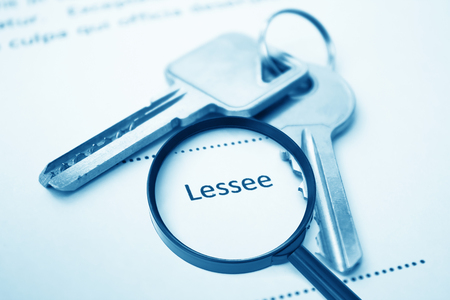 Lease Agreement For Lessee Signing,For Real Estate Concept