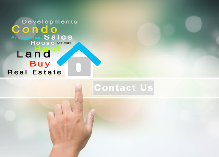 Real Estate Company With Contact Us Concept  photo