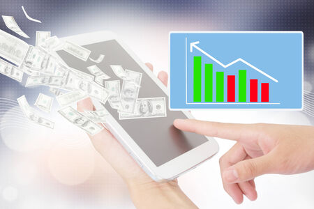 Businessperson Using A Digital Tablet,Technology,Financial Advisor,Internet Concept,Add More Text And Ideas photo