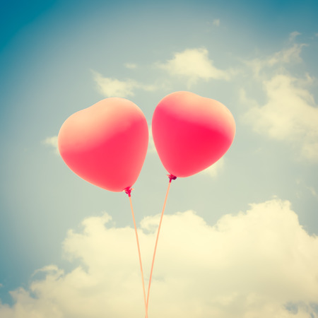 Heart Balloons Background For Valentines Day,Memory Of Love photo