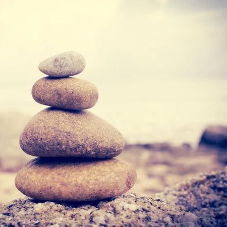 Zen stones Background,Dramatic Look photo