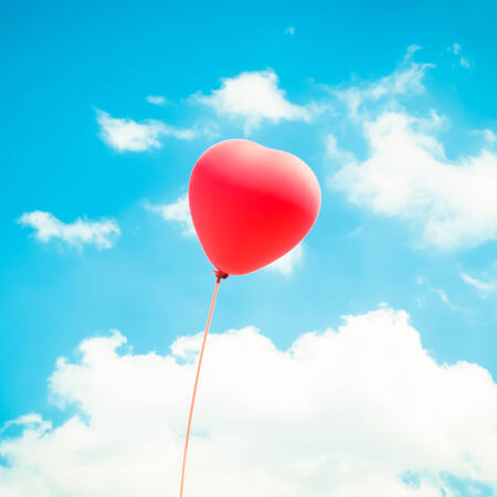 Heart Balloon Background For Valentines Day,Colorful Of Love photo
