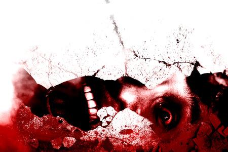 Sous les ruines, sanglant, Horreur Contexte Pour Films projet d'affiche