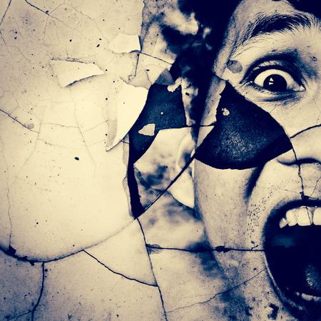 is ill: Santo, Horror Fondo Para Pel�culas Poster Proyecto Foto de archivo