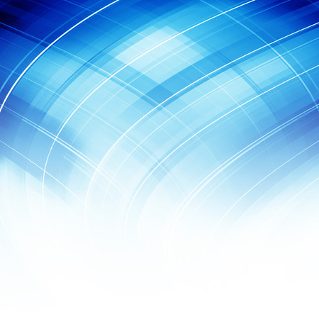 Blue Curved Abstract Background photo