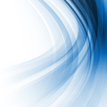 Blue Abstract Smooth Curves Lines Background Design