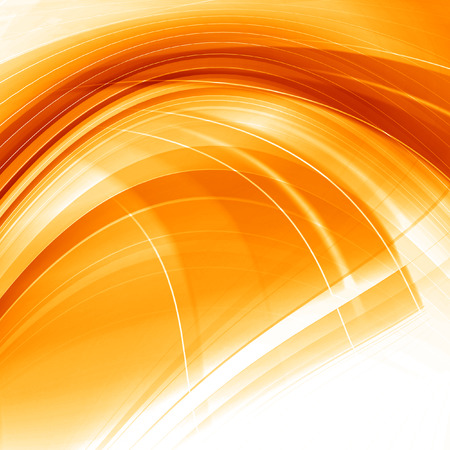 Orange Abstract Smooth Curves Lines Background Design