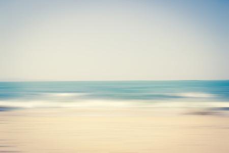 Fond de scène de plage floue Banque d'images