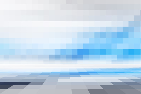 digital illustration: Blue Abstract Technology Background