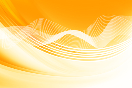 Yellow Curves Abstract Background Stock Photo