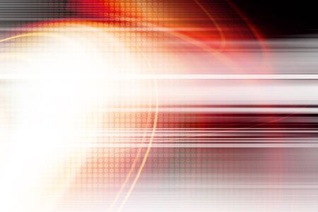 abstract: Orange Technology Abstract background Stock Photo