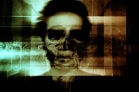 Ghost Face,Scary Background For Book Cover And Movies Poster Project Stock Photo