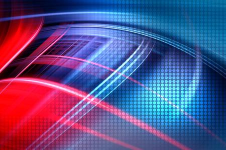 カラフルな技術背景、未来の赤と青の波背景を抽象化します。 写真素材