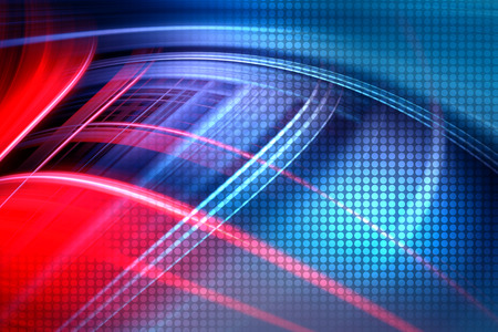Abstract Colorful Technology Background,Futuristic Red And Blue Waves Background Imagens - 42721683