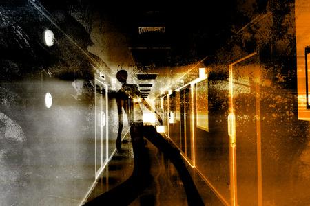 fallecimiento: Escapar De La Muerte, Fondo Scary Para Proyecto cartel cubierta y videos libro Foto de archivo
