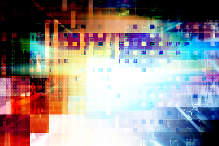 tecnologia: Futuristico astratte background